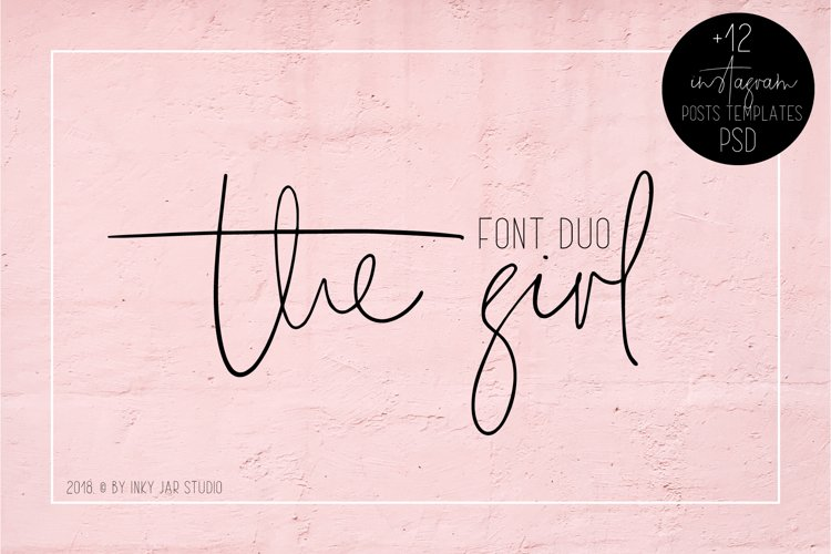 The Girl Font Duo 12 Instagram Post Templates