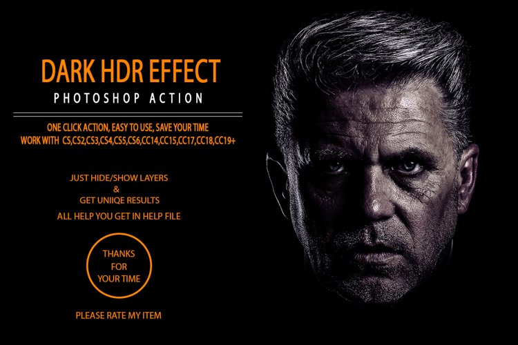 Dark Hdr Effect Photoshop Action example image 1