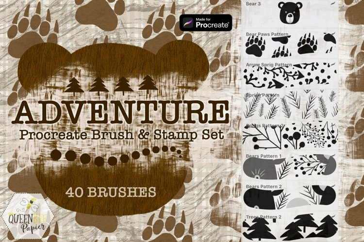 Procreate Brushes, Seamless Patterns, Textures, & Stamps