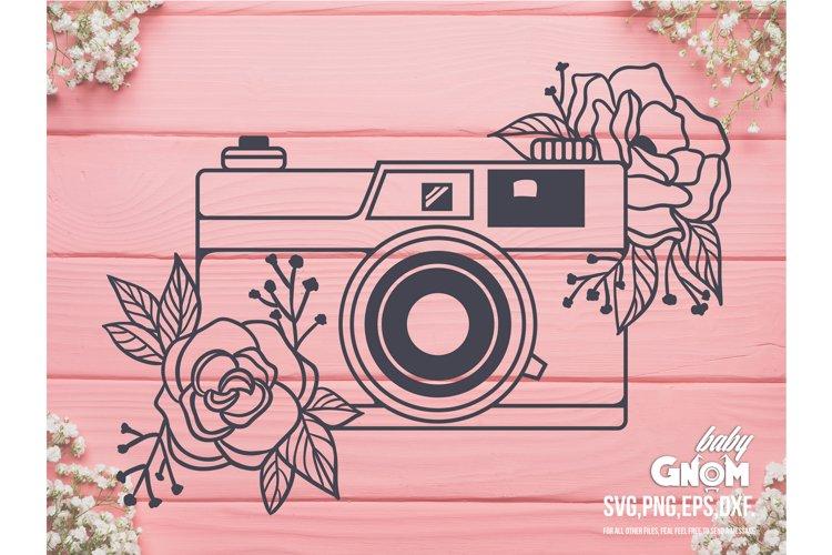 Floral Camera SVG, Camera svg, Vintage Camera svg, Camera Cl