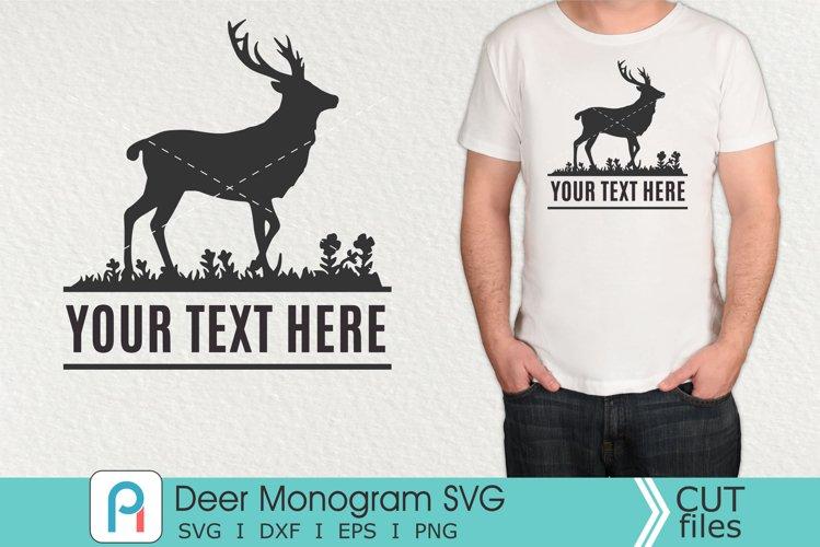 Deer Monogram Svg, Deer Svg, Deer Clip Art, Deer Vector example image 1