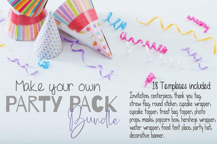 Party pack templates Bundle