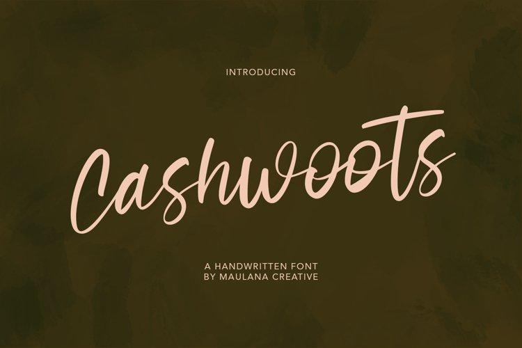 Cashwoots Handwritten Font example image 1