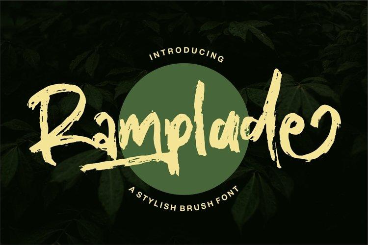 Ramplade - A Stylish Brush Font example image 1