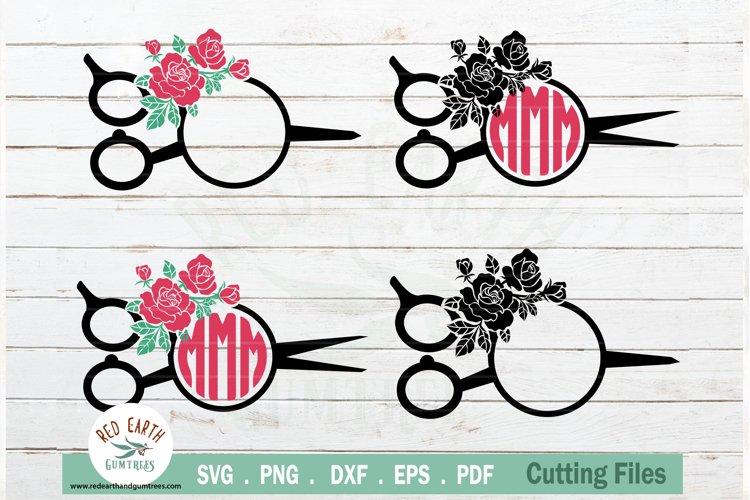Download Floral Hairstylist Barber Rose Hairdresser Monogram Svg Dxf 769102 Cut Files Design Bundles