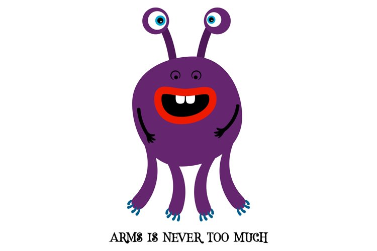 Cute monster print for t-shirt example image 1