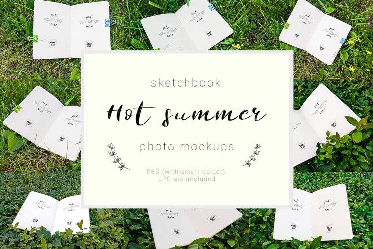 Hot Summer - sketchbook mockup set