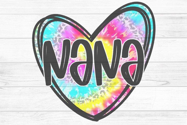 Nana Tie Dye Heart