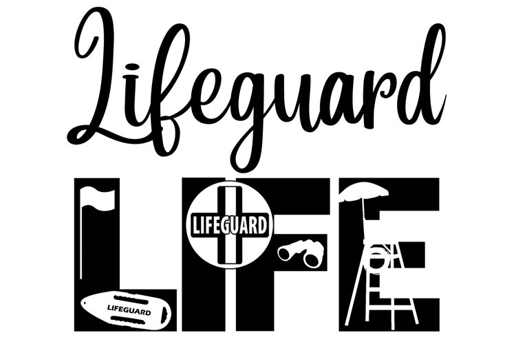 Lifeguard Life SVG Cutting File for the Cricut example image 1