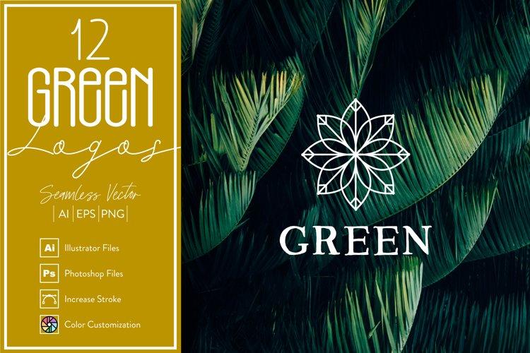 12 Green Logos example image 1