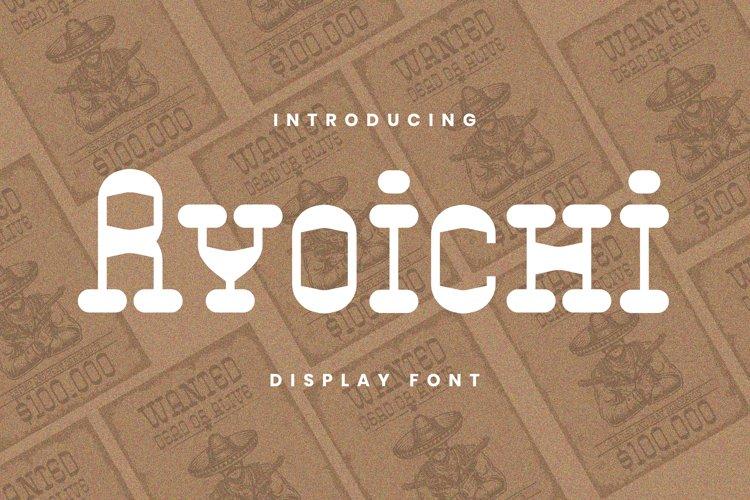 Ryoichi Font example image 1