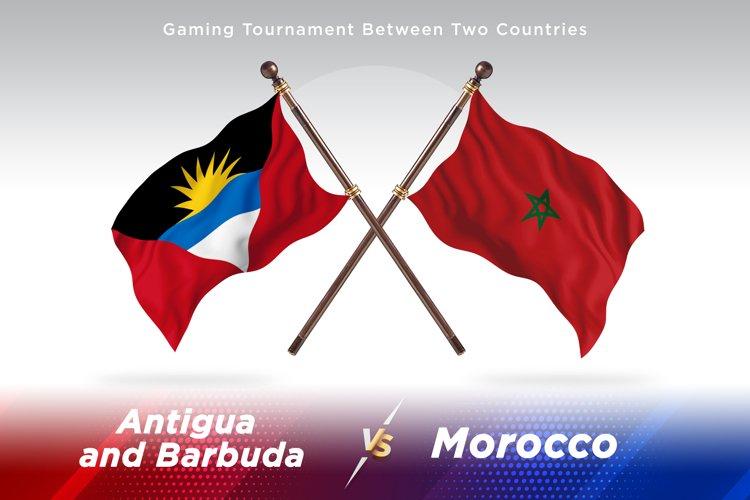Antigua vs Morocco Two Flags example image 1