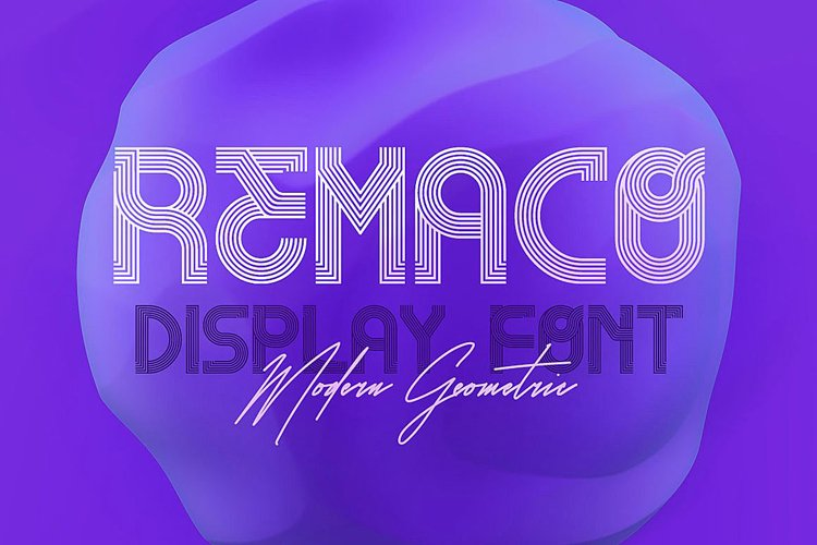 Remaco - Display Font example image 1