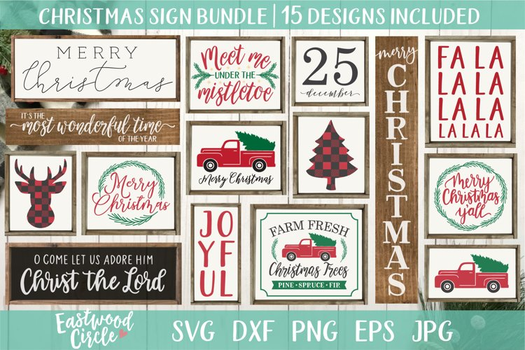 Christmas SVG Bundle - Cut Files for Signs