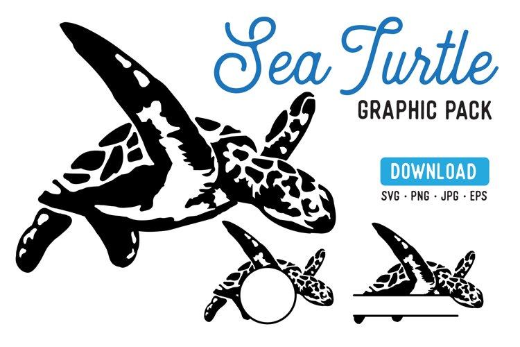 Sea Turtle Stencil Graphic Pack