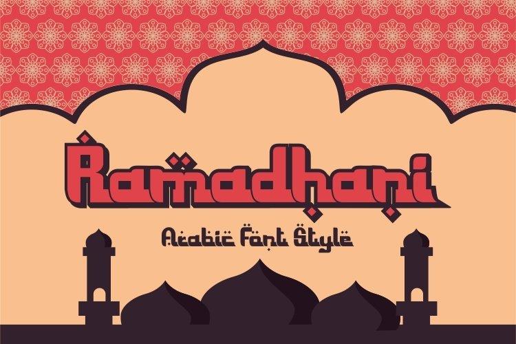 Ramadhani - arabic style typeface example image 1