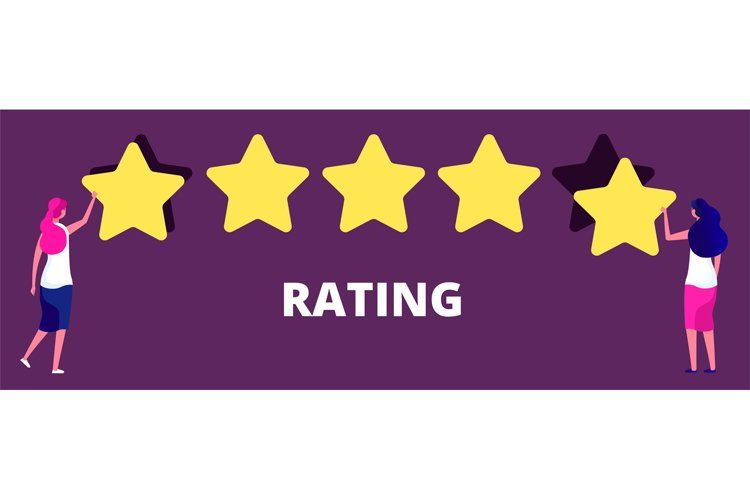 Girls giving five star rank. Best work quality, feedback or example image 1