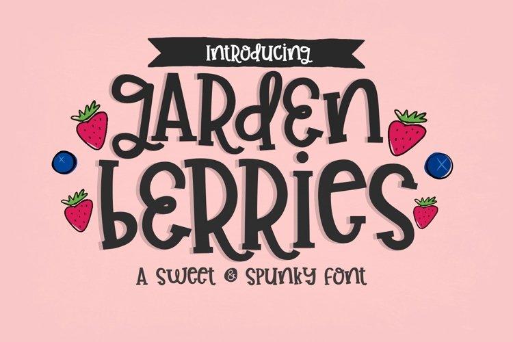 Garden Berries Handwritten Font example image 1