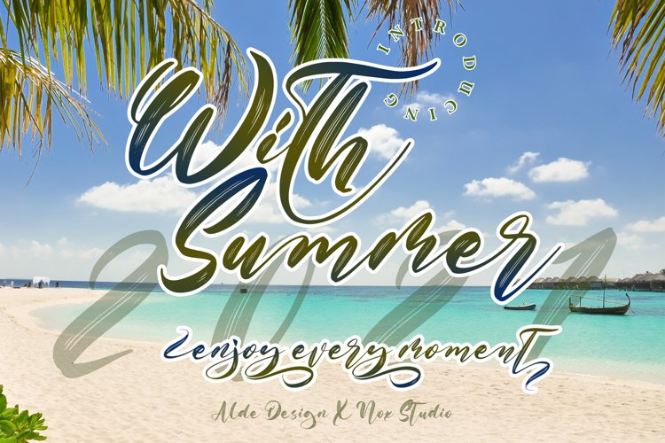 With Summer // Script Font - WEB FONT example image 1