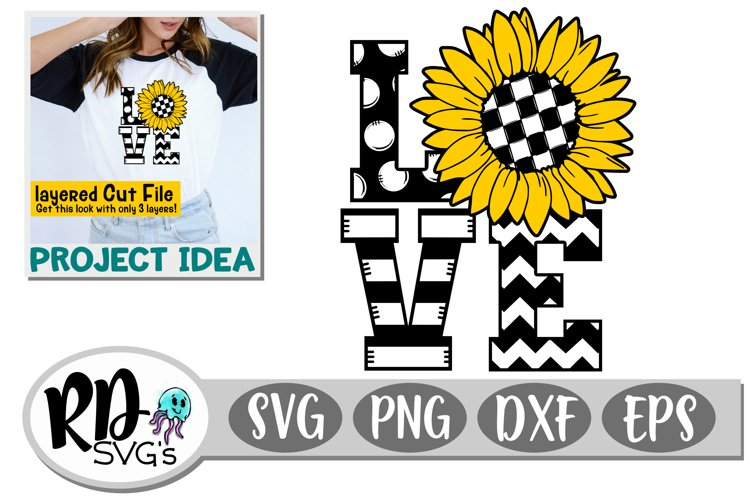 Sunflower Love - A Fun Summer Layered Cut File for Cricut example image 1