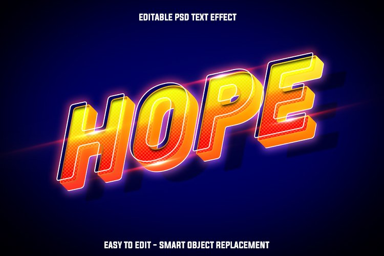 float hope text effect example image 1