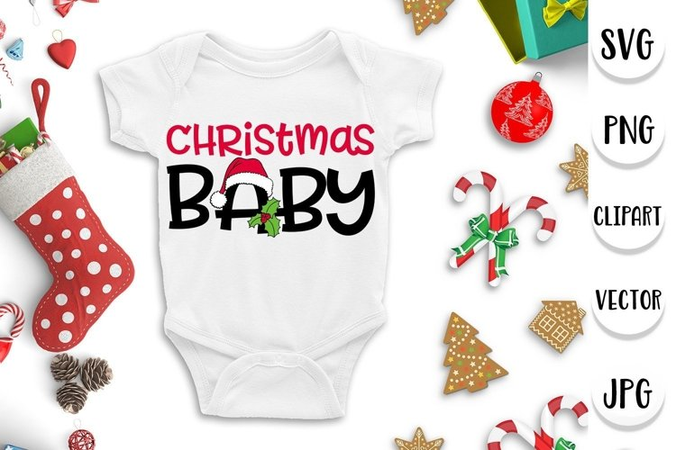Christmas baby svg - Xmas, holidays, season example image 1