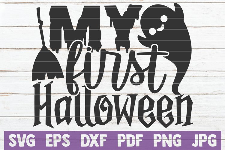 My First Halloween SVG Cut File example image 1