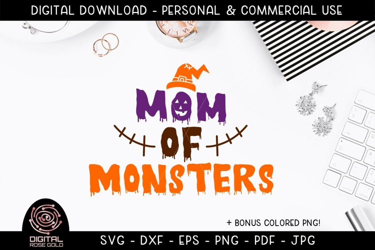 Mom of Monsters - Funny Halloween SVG, Mom Halloween Costume