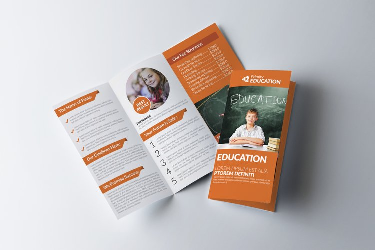 Kids Education Trifold Brochures example image 1