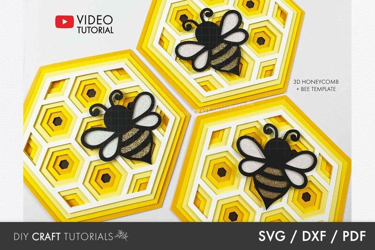 Mandala SVG, Bee SVG, Honeycomb SVG