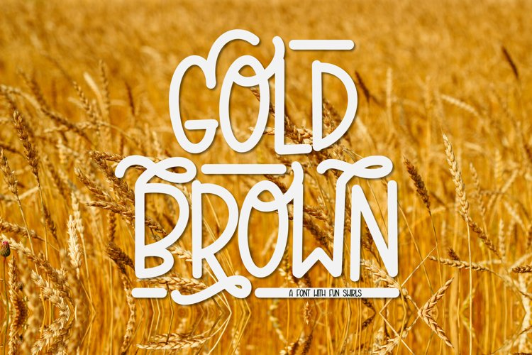 Gold Brown - A Hand Lettered Caps Font With Swirls example image 1