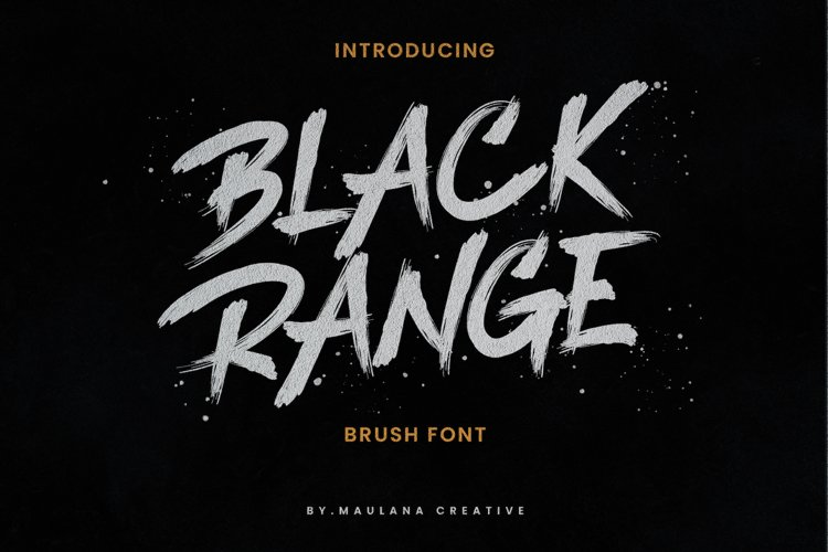 Black Range Brush Font example image 1