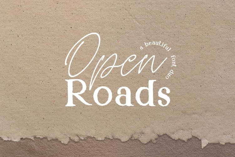 Open Roads Font Duo example image 1