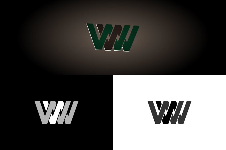 W Logo Design Abstract Vector monogram example image 1