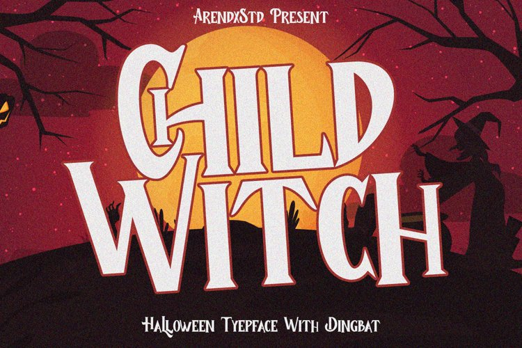 Child Witch - Halloween Typeface example image 1