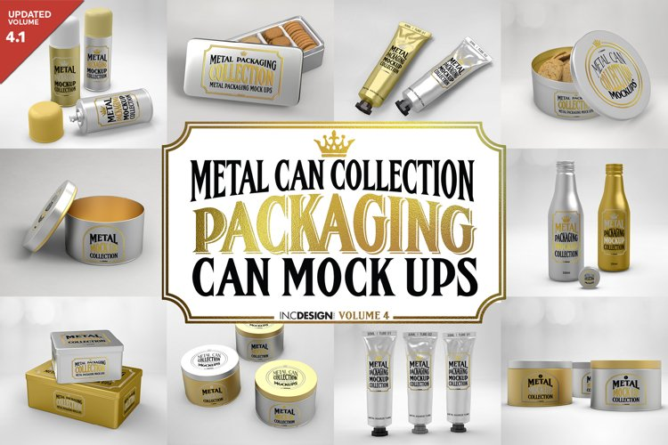 Vol.4 Metal Can Mockup Collection