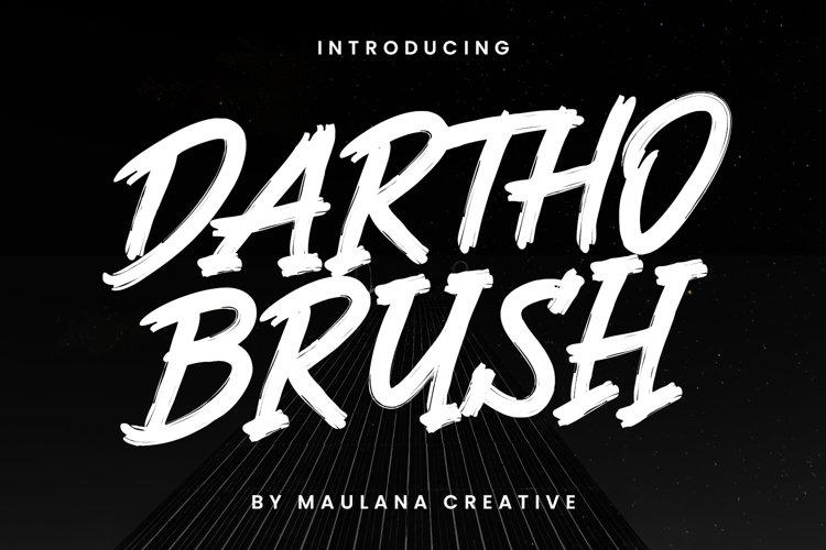 Dartho Brush Typeface example image 1