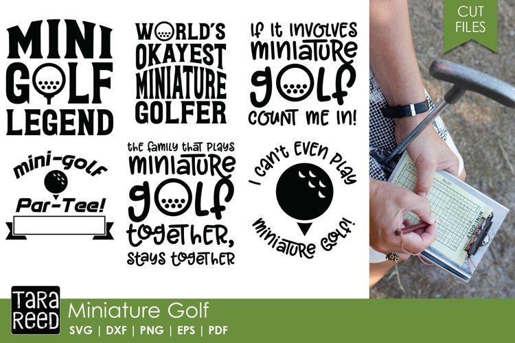 Miniature Golf SVG and Cut Files for Crafters