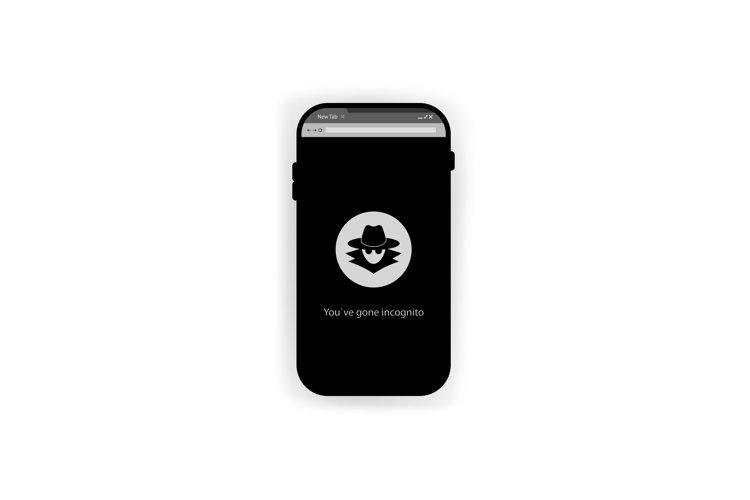 Incognito icon. Browse in private smartphone. Vector example image 1