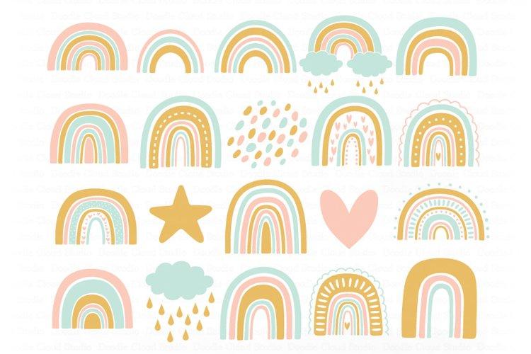 Rainbow SVG, Rainbows Pastel SVG Cut Files, Rainbow Clipart. example image 1