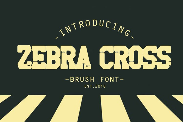 zebra cross brush font example image 1