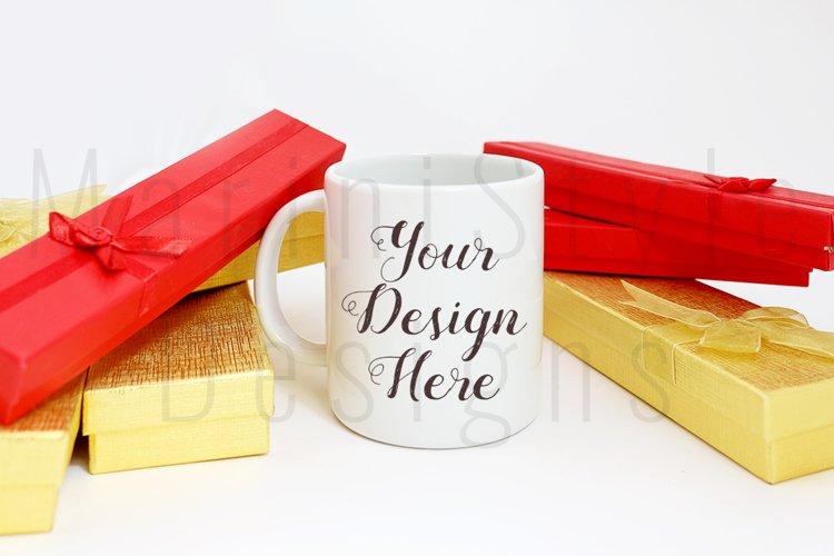 Christmas Styled Mug Mockup, Christmas mug Stock Photo 220