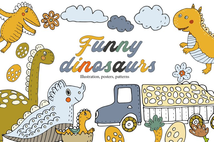Funny dinosaurs example image 1