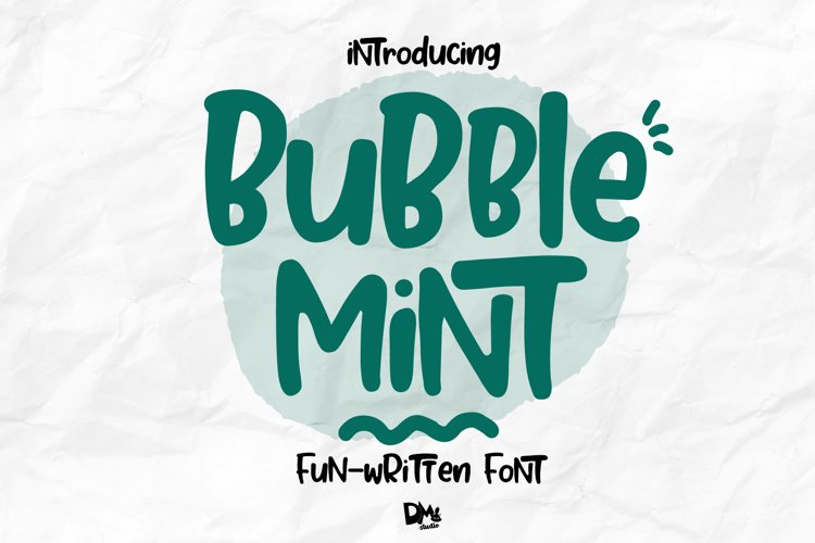 Bubble Mint - Fun written Font example image 1