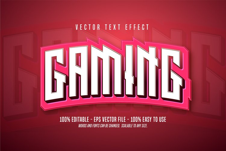 Gaming text, pink color editable text effect example image 1