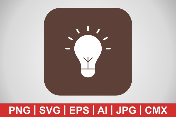 Vector Bulb Icon example image 1