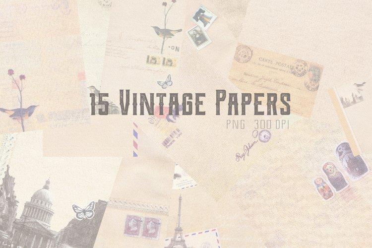 15 Vintage Papers