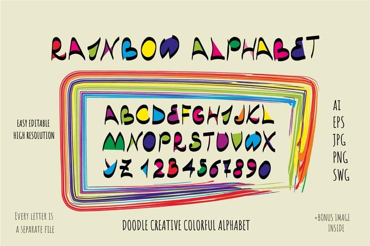 Rainbow Alphabet - AI, EPS, PNG, SVG, JPEG