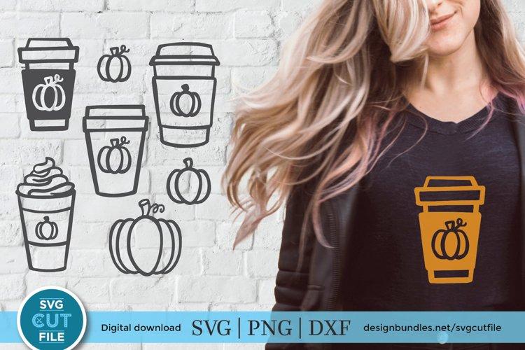 Pumpkin spice latte svg, pumpkin spice bundle - to go cup example image 1