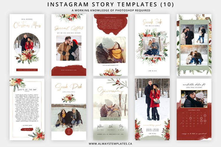 Christmas Instagram Stories Templates IGS008